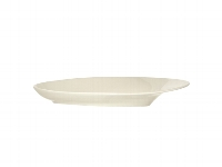Platte oval Fahne 26 cm creme, Silhouette