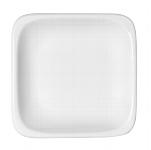 Teller flach quadratisch 1152/27 cm weiß, B1100 / 6200