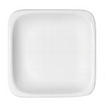 Teller flach quadratisch 1152/29 cm weiß, B1100 / 6200,Modulus