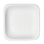 Teller flach quadratisch 1152/43 cm weiß, B1100 / 6200,Modulus