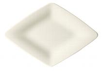 Teller flach Raute 10 cm creme, Raffinesse