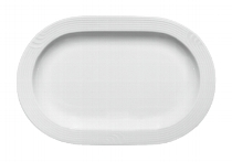 Platte oval halbtief 2561/23 cm weiß, Carat