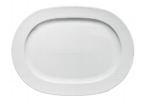 Platte oval Fahne 2561/32 cm weiß, Carat