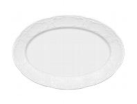 Platte oval Fahne 5712/32 cm weiß, Mozart