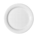 Teller flach Fahne 9050/23 cm weiß, Dimension