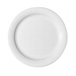 Teller flach Fahne 9050/25 cm weiß, Dimension