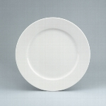 Teller flach Fahne 21 cm weiß, Fine Dining 900