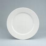 Teller flach Fahne 25 cm weiß, Fine Dining 900