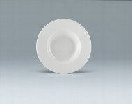 Teller tief Fahne 24 cm weiß, Fine Dining 900