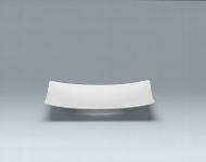 Teller halbtief coup eckig 12 cm weiß, Fine Dining 900