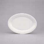 Platte oval 36 cm weiß, Avanti 1398