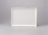 Speiseplatte eckig 15 x 20 cm weiß, Unlimited