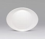 Desserteller oval 22 cm weiß, Signature,Kinder