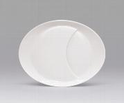 Plateau-Teller oval 22 cm weiß, Signature