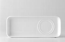 Setplatte 9x24 cm Doppelspiegel weiß, Raster 2298
