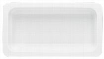 Porzellan GN-Schale  GN 2/4 20 mm weiß