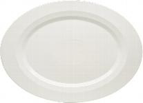 Platte oval Fahne 38 cm, Allure bonewhite