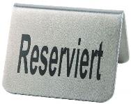 Tischaufsteller RESERVIERT 2er Pack