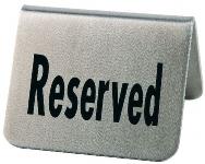Tischaufsteller RESERVED 2er Pack
