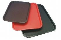 Fast Food-Tablett 41 x 38 cm schwarz