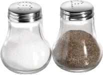 Salz und Pfefferstreuer glatte Ausführung, 2er Set