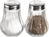 Salz und Pfefferstreuer geriffelte Ausführung, 2er Set