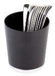 Tischreste- / Besteckbehälter schwarz
