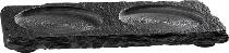 Naturschieferplatte/Untersetzer mit 2 Absätzen Ø 6cm
