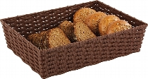 Korb -WICKER-LOOK- beige 39,5 x 29,5 cm