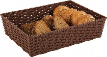 Korb -WICKER-LOOK- braun  39,5 x 29,5 cm