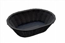 Brot- und Obstkorb WICKER-LOOK oval schwarz