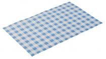 Wachspapier -SNACK HOLDER- blau kariert
