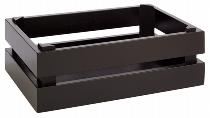 Holzbox -SUPERBOX- GN 1/4 schwarz