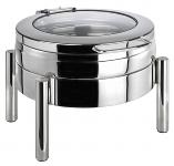 Chafing Dish rund -PREMIUM- 6 l mit Glasdeckel