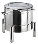 Chafing Dish rund -PREMIUM- 10 l mit Glasdeckel