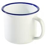 Henkelbecher -ENAMELWARE- 0,35 l weiß/weiß