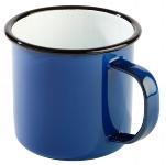 Henkelbecher -ENAMELWARE- 0,35 l weiß/blau