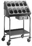 Besteck- und Tablettwagen BT 800 stahlverzinkte Rollen
