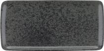 Platte rechteckig 30 x 15 cm BLACK , Sandstone