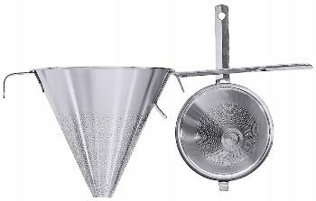 Spitzsieb mit Flachgriff 20 cm mit Stützstiel