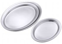 Serviertablett oval 20 cm
