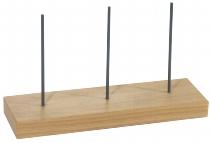 Bonspieß auf Holzfuß 3 Spieße