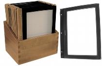 Speisekartenmappe Holz schwarz Box mit 20 Stck.