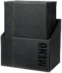 Speisekartenmappe A4 schwarz Box mit 20 Stck.