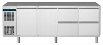 Kühltisch 2 Türen 4 Schubladen 1/2 CLM 650 4-7031