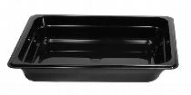GN-Behälter 2/4-100 lang aus Polycarbonat ohne Deckel schwarz