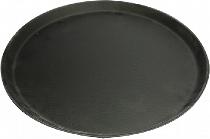 Tablett ø 28cm schwarz mit rutschfester Gummioberfläche