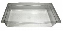 GN-Behälter 2/4-100 lang aus Polycarbonat ohne Deckel