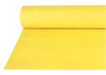 Papiertischtuch mit Damastprägung gelb