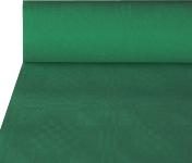 Papiertischtuch mit Damastprägung dunkelgrün